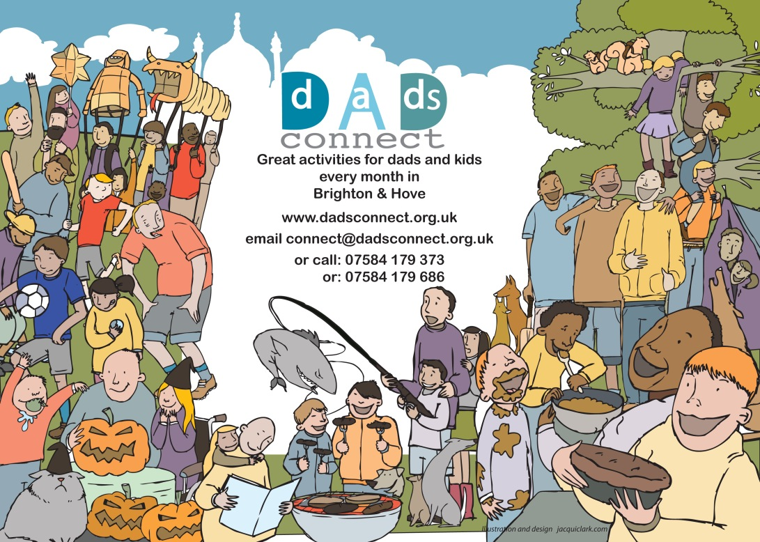 Activity Poster and assets for monthly newsletter for Dads Connect