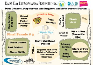 Leaflet for Brighton and Hove Council Dads Day