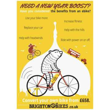 Brighton e-bike's poster