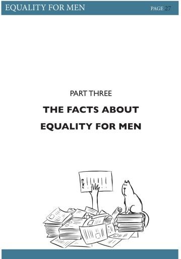 Illustration and layout design for 'Equality for Men' Book