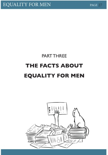 Illustration and layout design for 'Equality for Men' Book