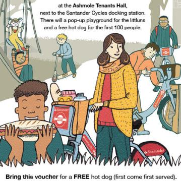 Santander and Lambeth Council Cycling promotion Day leaflet