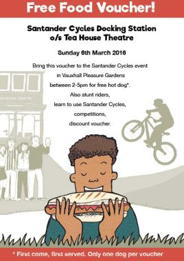 Santander and Lambeth Council Cycling promotion Day, free food voucher