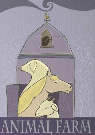 Animal Farm concept book cover