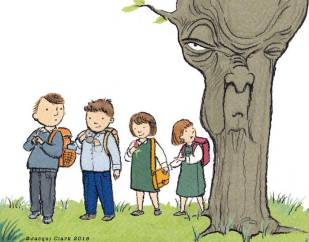Kids and the Old Tree