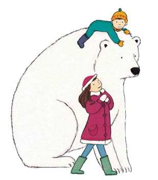 Polar Bear kids Xmas card design