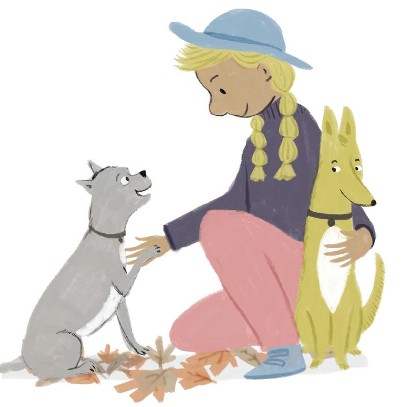 girl-and-dogs